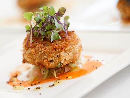 Crab Cake at The Bee's Knees Cafe in Avon Connecticut